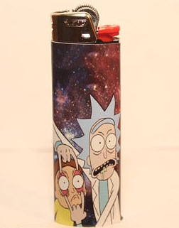 RE G U L AR L I G H T ER® Rick and-Morty bic vinyl sticker